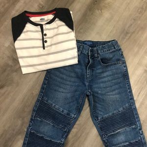 Boys size 10-12 Jeans and shirt outfit